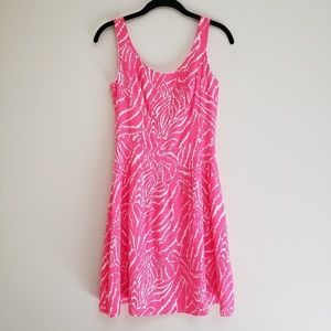 Show Your Stripes Zebra Posey Neon Hot Pink Dress